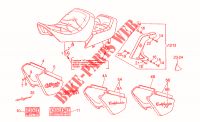 Saddle-Central bod FRAME 1100 moto-guzzi-motoren CALIFORNIA 1996 41