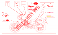 Decal and plate set voor MOTO GUZZI Nevada S 2010